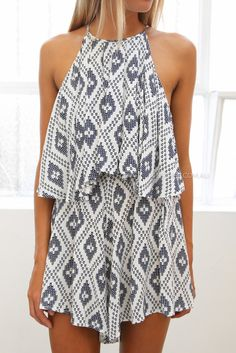 romper with tribal print
