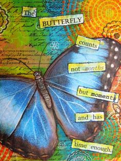 original mixed media butterfly