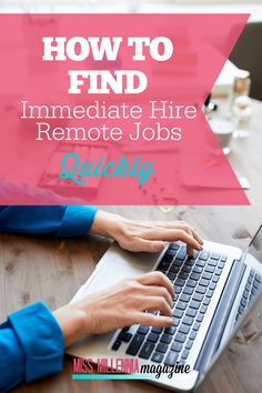 There have been big changes in the job market, making remote working more appealing to many. We're here to help you find immediate hire remote jobs quickly. Work From Home Jobs, Make Money From Home, Way To Make Money, Make Money Online, Home Based Business, Business Tips, Online Business, Great Place To Work, Marketing Jobs