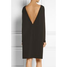 Amsai stretch-crepe dress Calvin Klein Collection, Chocolate, Women's,... (4.945 BRL) ❤ liked on Polyvore featuring dresses, calvin klein collection dresses, chocolate dress, long sleeve dress, longsleeve dress and calvin klein collection