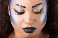 Showing more of the eye makeup in the Mermaid with Attitude series I did with Krii Gibson. Find out more at www.joshgaede.com