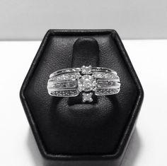 10k white gold diamond ring with Diamond wrap. Estimated total diamond weight 1/4 carat. $320  www.goldassayinc.com
