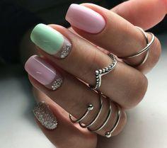 + 70 Gel polish nails 2018 – spring trends
