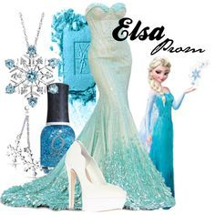 Elsa prom dress idea 2