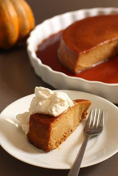 Pumpkin Flan w/ Honey Cayenne Whipped Cream by The Scootabaker, via Flickr