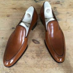New Handmade Men Tan color Leather shoes moccasins Men tan leather formal shoes - Dress/Formal Moccasins Mens, Leather Moccasins, Mens Dress Loafers, Loafers Men, Brown Leather Loafers, Leather Boots, Tan Leather, Cowhide Leather, Men Dress
