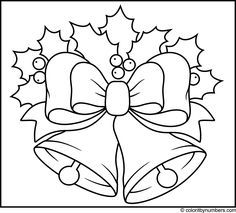 Sleigh Bells Christmas Coloring Pages
