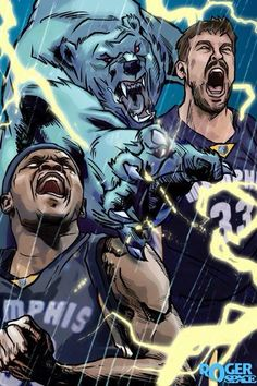 Memphis Grizzlies, I did not draw this art.