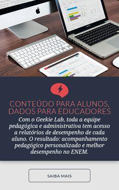 No InfoGeekie você encontra notícias e conteúdo sobre educação e tecnologia. A Geekie criou uma ferramenta adaptativa que ajuda os alunos no aprendizado.
