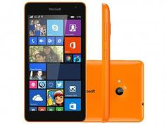 "Smartphone Microsoft Lumia 535 Dual Chip 3G - Windows Phone 8.1 Câm. 5MP Tela 5"" Proc. Quad Core"