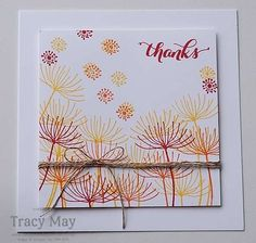 Summer Silhouettes from Stampin' Up! Less is More Fire card Tracy May