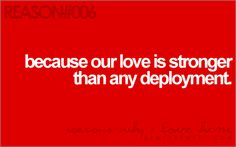 Love is stronger than deployment