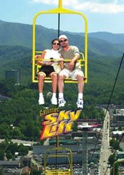 Sky Lift - Ride this double chairlift to the top of Crockett Mountain to see amazing views of the Smokies. #Gatlinburg #fun