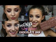 Too Faced - Semi Sweet Chocolate Bar palette - soft neutral Makeup Geek, Beauty Makeup, Eye Makeup, Hair Makeup, Hair Beauty, Dani Mansutti, Chocolate Bar Too Faced, Too Faced Semi Sweet, Chocolate Bar Palette