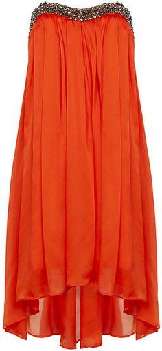 Vestido de festa laranja soltinho