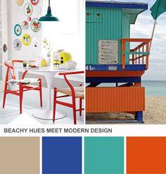 Tuesday Huesday: A Modern, Beach-Inspired Palette From HGTV's Design Happens Blog (http://blog.hgtv.com/design/2013/02/26/modern-coastal-dining-room-color-palette/?soc=pinterest)
