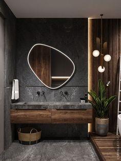 scandinavian interior design Badezimmer Inspiration // Cartelle Design All you need to know about Wh Bathroom Design Luxury, Home Interior Design, Interior Decorating, Modern Luxury Bathroom, Modern Bathroom Mirrors, Wooden Bathroom, Interior Colors, Industrial Bathroom, Modern Small Bathroom Design