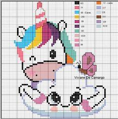 Cross Stitch Horse, Unicorn Cross Stitch Pattern, Cross Stitch Baby, Modern Cross Stitch, Cross Stitch Charts, Cross Stitch Designs, Cross Stitch Patterns, Cross Stitching, Cross Stitch Embroidery