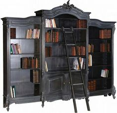 haunted bookcases LOVE.