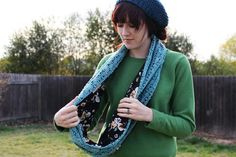 scarves with fabric and crochet - Google Search