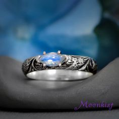 Marquise Rainbow Moonstone Wildflower Silver Engagement Ring Sterling... ($150) ❤ liked on Polyvore featuring jewelry, rings, silver jewelry, sparkly engagement rings, sterling silver rings, marquise-cut diamond rings and marquise cut engagement rings