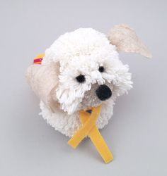 I am over the moon to have joined the Handmade Charlotte craft contributor team. For my first project I am sharing how to make this cute pom pom puppy! pop on over to Handmade Charlotte to see how easy he is to make. Pom Pom Puppies, Pom Dog, Pom Pom Crafts, Yarn Crafts, Craft Stick Crafts, Diy And Crafts, Puppy Crafts, Pom Pom Animals, Easy Pets