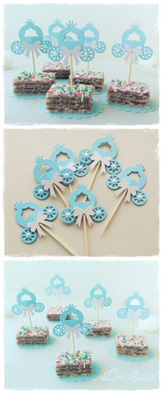 Cinderella Party Decorations Princess Carriage Picks for snacks More