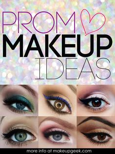 Looking for some ideas for prom makeup?  We've got a variety looks for you to check out and tips on how to pull them off http://www.makeupgeek.com/articles/lots-of-ideas-for-prom-makeup/