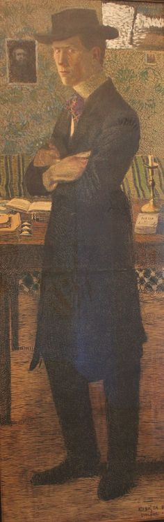 Self-portrait, Bohumil Kubišta, 1906.