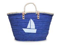LoveMarks Handmade by OF - Capazo Azul-Velero - Design bag - Colección Mediterranean Sea