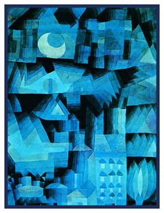 Dream City in Blue by Expressionist Artist Paul Klee Counted Cross Stitch or Counted Needlepoint Pattern Kandinsky, Henri Matisse, Paul Klee Art, Art Ancien, Expressionist Artists, Dream City, Famous Artists, Art History, Painting & Drawing