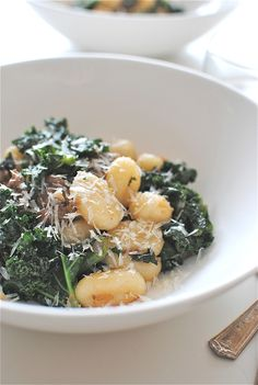 Gnocchi with Italian Sausage and Kale / Bev Cooks