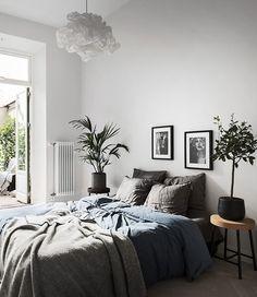 Stylecaster | fall home decor | gray bedding