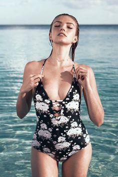 Cupshe Flourishing Star Print One-piece Swimsuit #swimwear