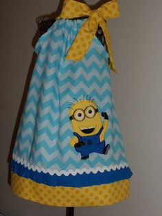 Despicable Me  Minion 2 Eyes   Pillowcase Dress by Just4Princess, $29.00