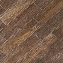 Mediterranea Wood Look Tile Havana Collection in Tobacco. Get the warmth of wood with the durability of tile. Use this tile that looks like wood indoors or out, it can stand up to wearr and tear.