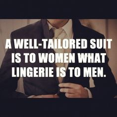un buen traje...