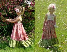 Boutique Maxi Dress Sewing PatternLove this too!  I have the pattern and need to make my girls one!