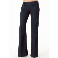 Piper's Closet Double Button Stretch Trouser Jean ($40) ❤ liked on Polyvore