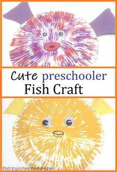 cute and simple paper plate fish craft for preschoolers and kindergartners  #kidscrafts #preschoolcrafts #craftsforkids Paper Plate Fish, Paper Plate Crafts, Paper Plates, Creative Arts And Crafts, Fun Crafts For Kids, Summer Crafts, Toddler Preschool, Preschool Activities, Sea Animal Crafts