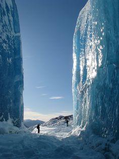 Walls of ice.  Juneau, Alaska  Looks soooo good!  It's 107 here today!     :€