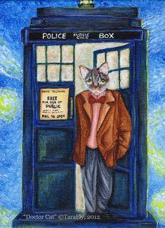 Dr Who Cat by TaraFlyArt