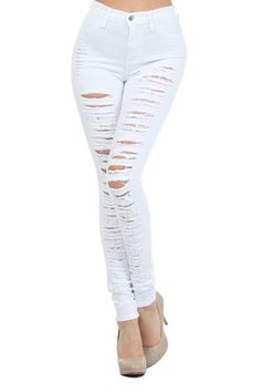 Grey High Waist Elastic Pencil Jeans | CHICNOVA BOARD | Pinterest ...