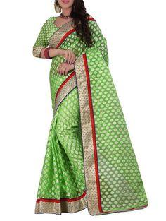 Fancy Multi Chiffon Bordered & Festive Wear Saree @Looksgud.in #MultiColor, #Chiffon, #Festive, #Saree