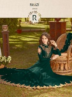 RAMA D.NO.-20028 RATE : 2435 - RAMA FASHION RAAZI VOL 8  RAMA 20025-20032 SERIES  GEORGETTE EMBROIDERED TRADITIONAL OCCASIONALLY FASHION PARTY WEDDING WEAR INDIAN WOMEN FASHION ANARKALI DRESS AT WHOLESALE PRICE AT DSTYLE ICON FASHION CONTACT: +917698955723 - DStyle Icon Fashion
