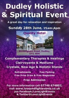 Dudley Holistic & Spiritual Event on 28th June