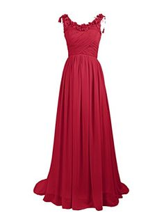Dresstells Long Chiffon Prom Dress with Handmade Flowers Wedding Dress Dark Red Size 6 Dresstells http://www.amazon.co.uk/dp/B00OFQ9NV2/ref=cm_sw_r_pi_dp_ZarEwb19X81C5