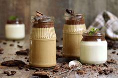 Panna cotta s kavom i čokoladnim preljevom Panna Cotta, Ethnic Recipes, Food, Dolce, Hoods, Meals