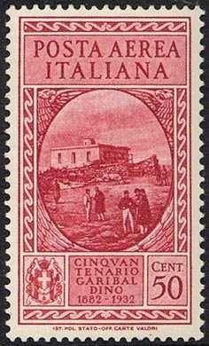 Italy Stamp - 50° Anniversario della morte di Giuseppe Garibaldi - Casa di Garibaldi, a Caprera