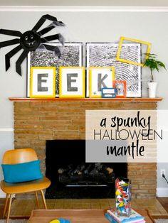 modern Halloween mantle - C.R.A.F.T. - Halloween DIY ideas using the Martha Stewart Crafts line